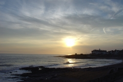 porthcawl in silhouette